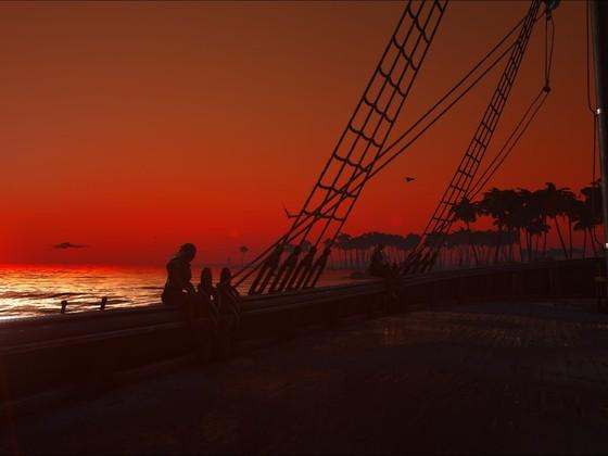...wenn beim Affenberg die rote Sonne im Meer versinkt...*sing*