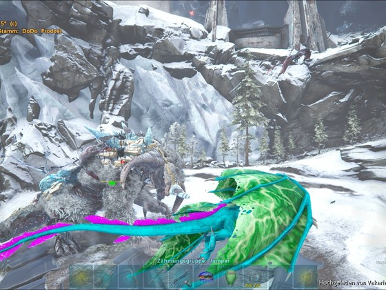 Spontaner Ice-Titan Kampf