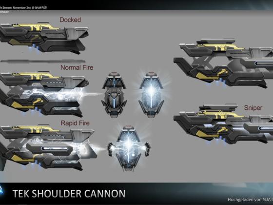 ARK Genesis Tek Shoulder Cannon
