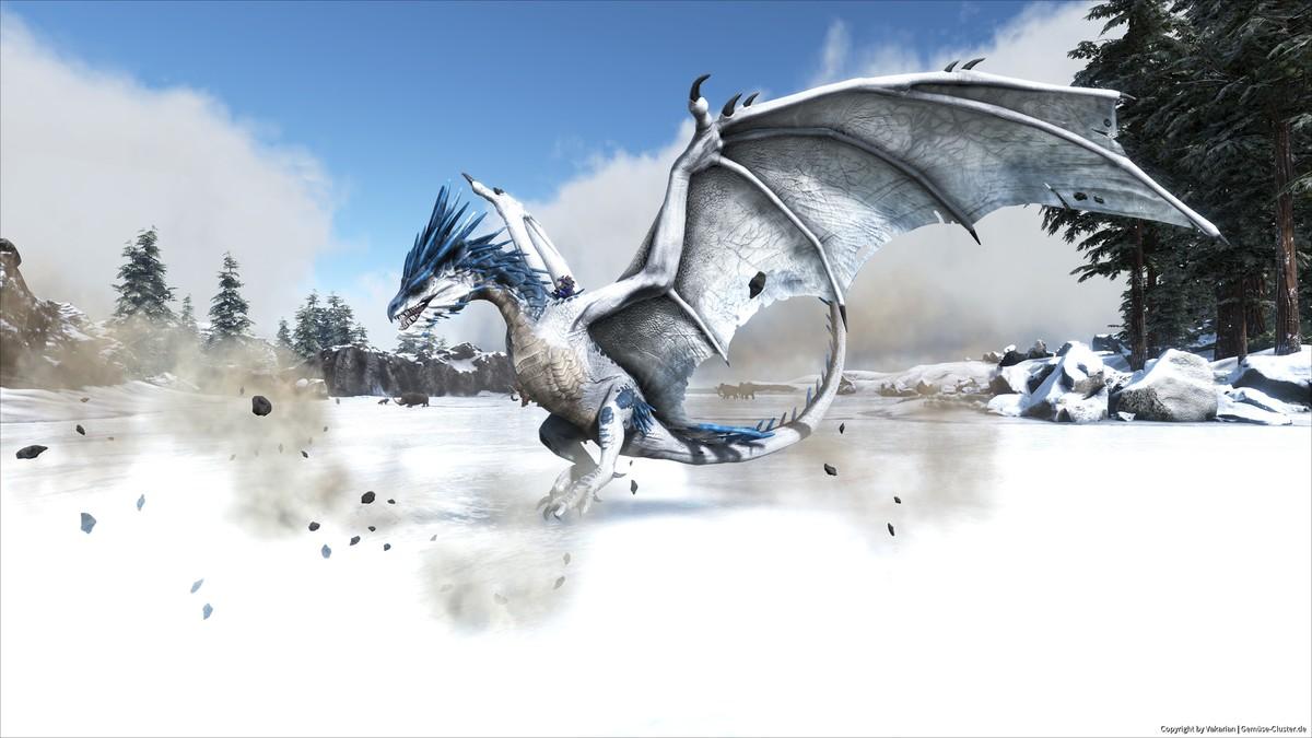 Ice Wyvern Landing