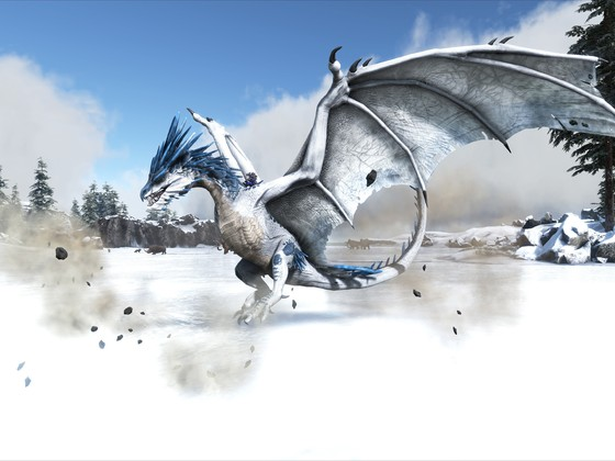 Ice Wyvern Landing