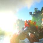 Rock Drachen im Sonnenschein